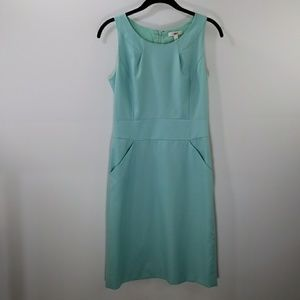 J.Crew aqua sheath dress size 2
